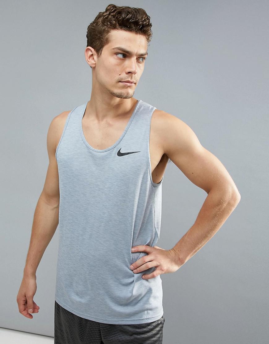 f90c3d8a Nike Breathe Hyperdry Singlet In Grey 832825-043 in Gray for Men - Lyst