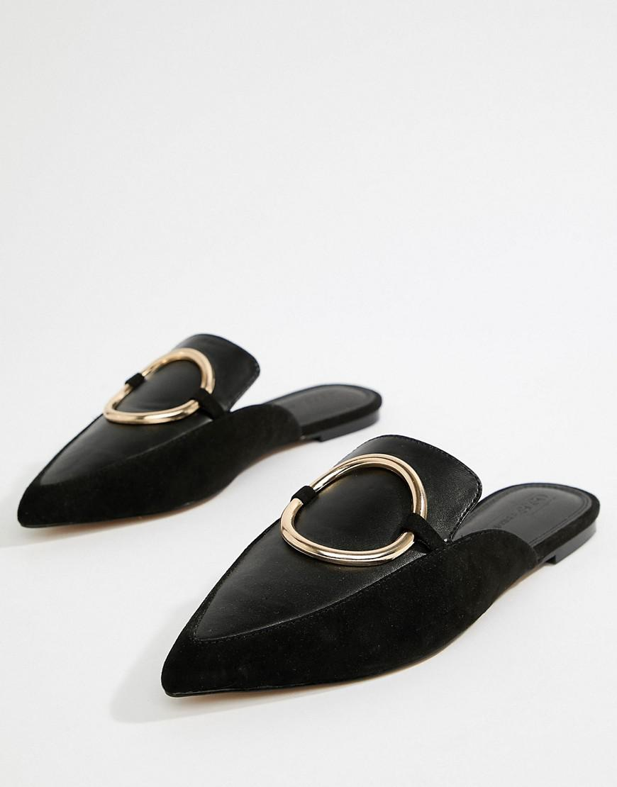 e0beb67a274 Lyst - ASOS Loyalty Mule Ballet Flats in Black