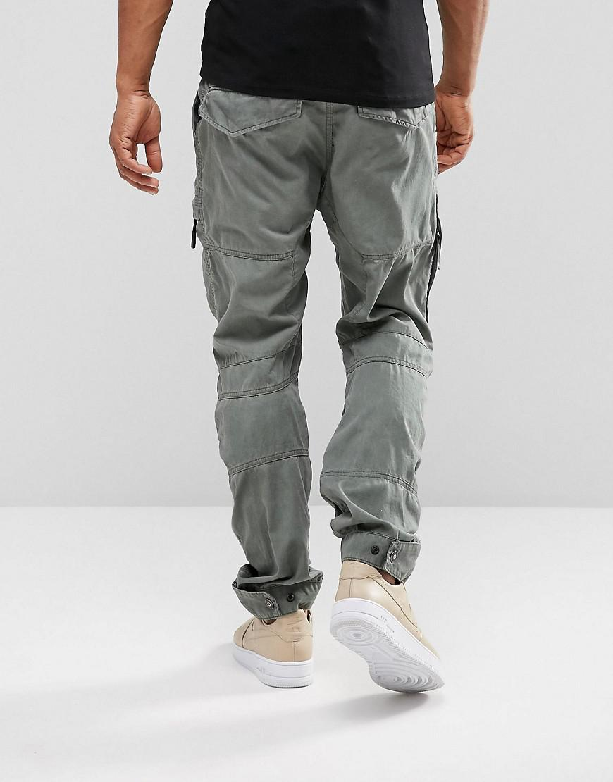 d883c448 G-Star RAW Rackam Us Cargo Pant Tapered in Gray for Men - Lyst