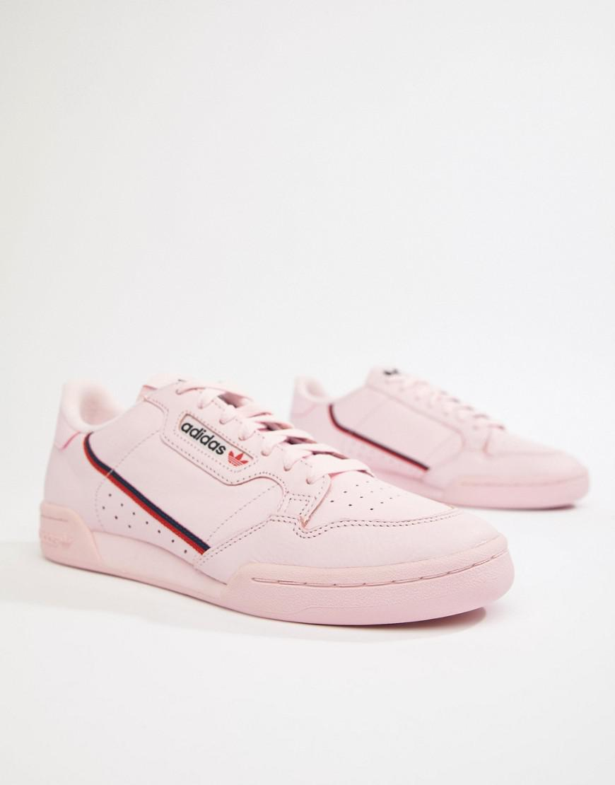 a674f3765ebd49 Lyst - adidas Originals Continental 80 s Sneakers In Pink B41679 in ...