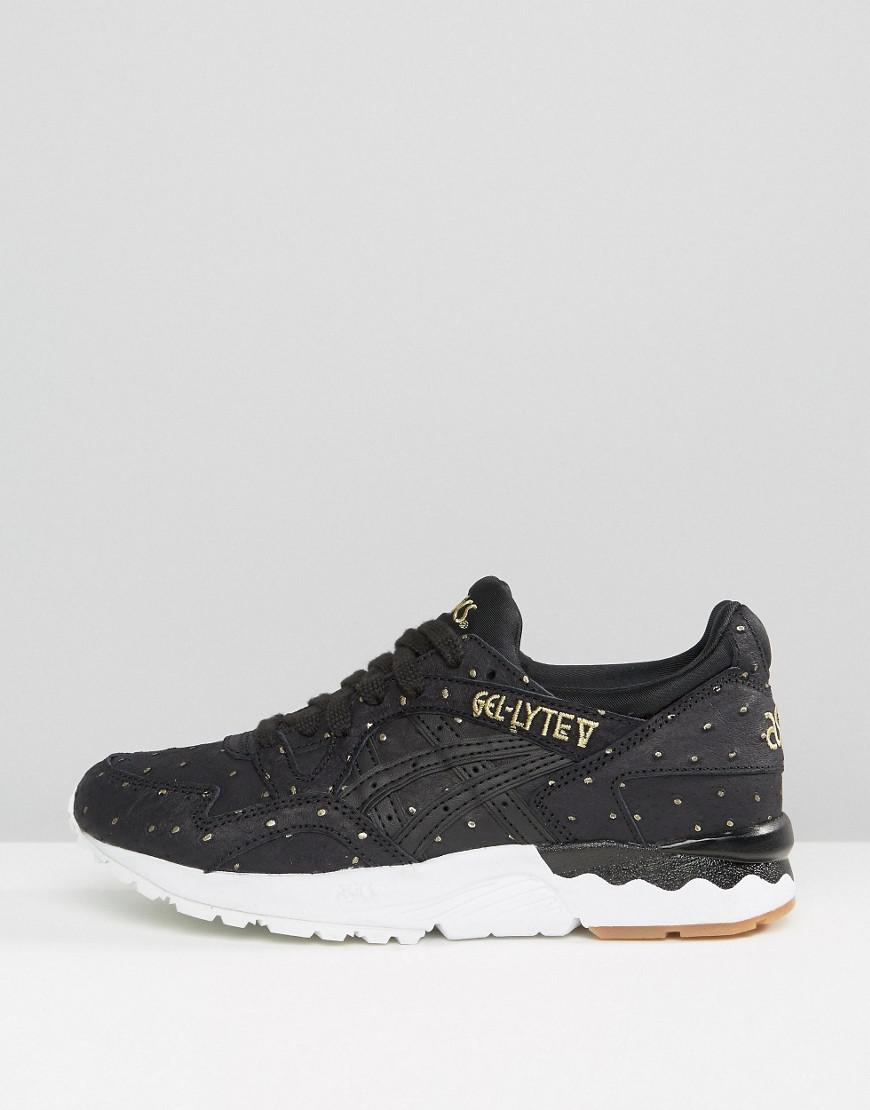 reputable site 83399 b4122 Asics Suede Gel-lyte V Sneakers With Metallic Dots In Black in Black ...