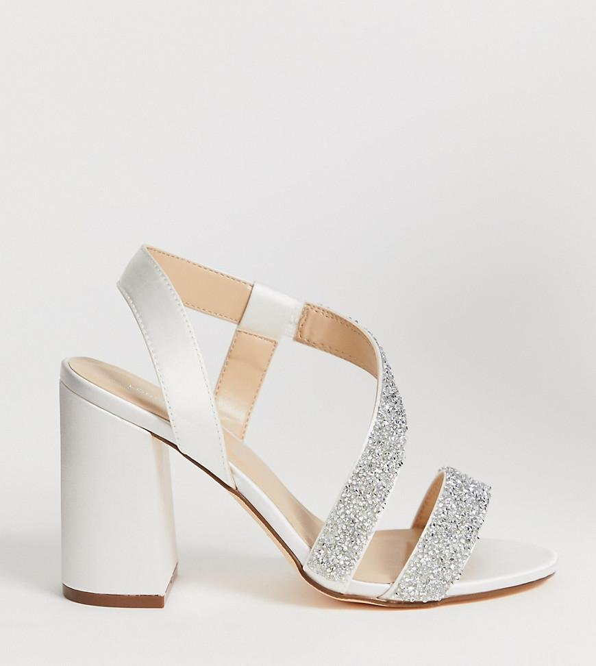 f77f43a255e London Rebel. Women s Wide Fit Bridal Barely There Embellished Block Heel  Sandals.  81  48 From ASOS