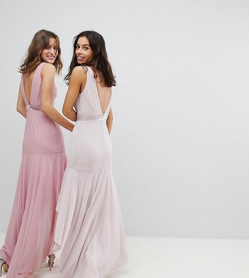 Low bow back maxi dress