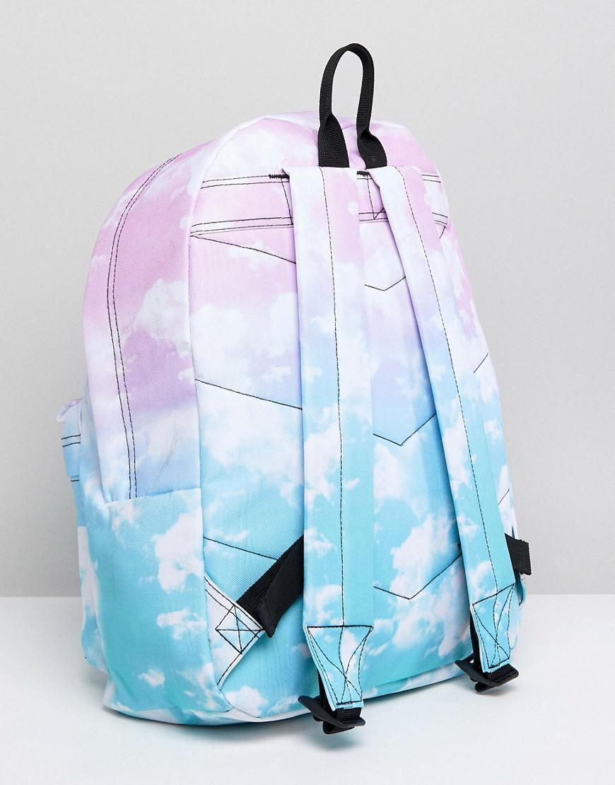 b0d18a4c4d9c Lyst - Hype Backpack In Contrast Cloud Print in Blue