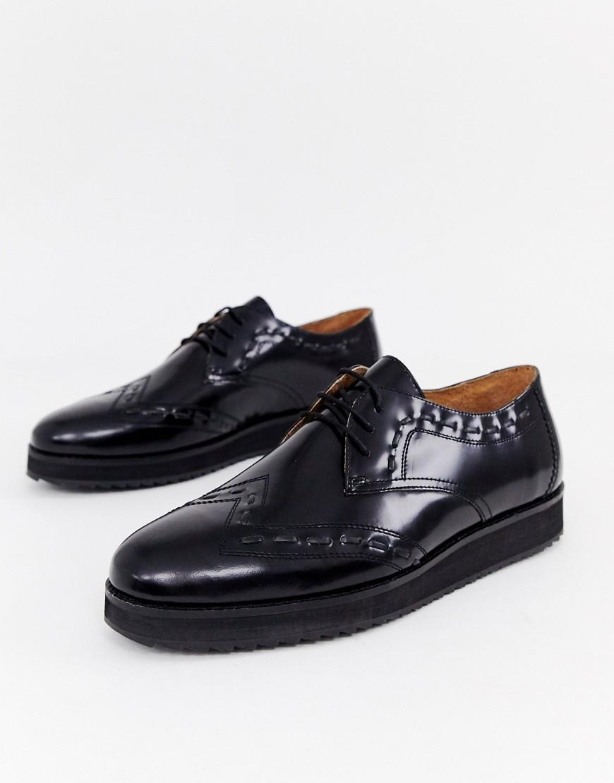 ba3401191 Lyst - House Of Hounds Warg Derby Shoes In Black in Black for Men