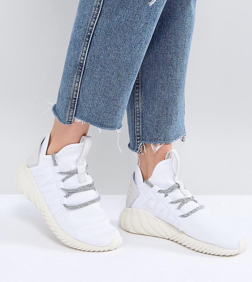 adidas originali tubulare dawn formatori in bianco in bianco lyst