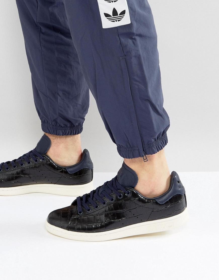5b5e6d8ecdd Adidas Originals Stan Smith Trainers In Blue Bz0453 in Blue for Men ...