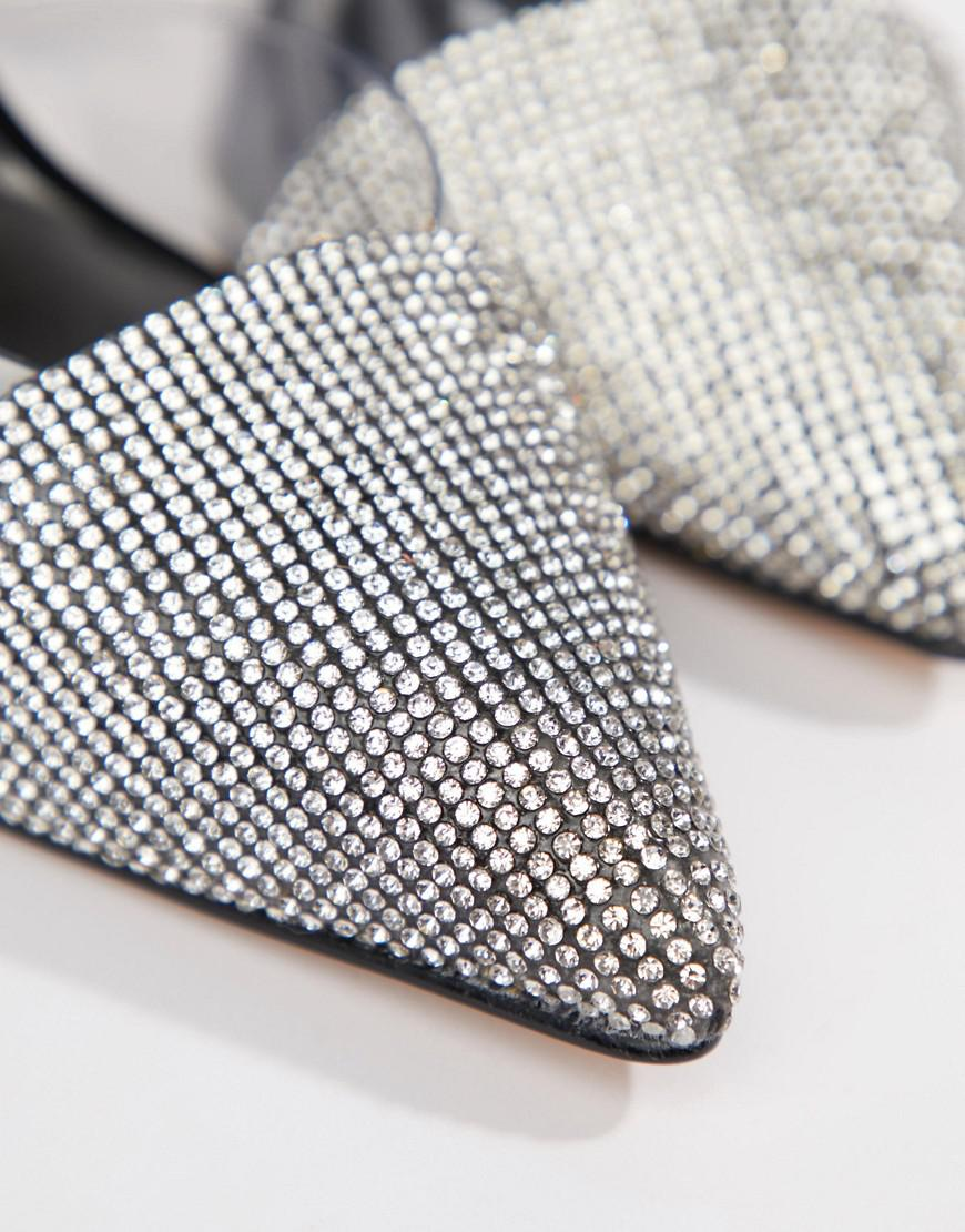 02115bae78832b ALDO - Sywiel Black Embellished Pointed Toe Slingback Heels - Lyst. View  fullscreen