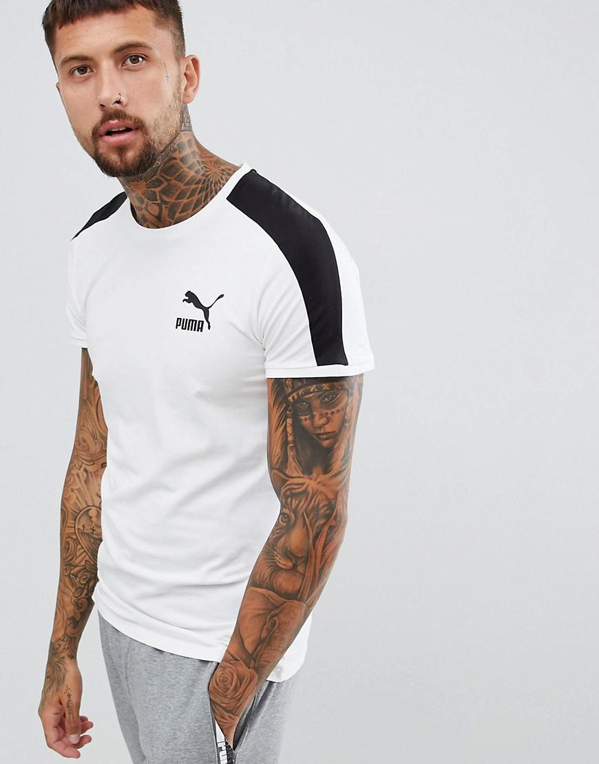 58b240899 PUMA - T7 Muscle Fit T-shirt In White 57635202 for Men - Lyst. View  fullscreen