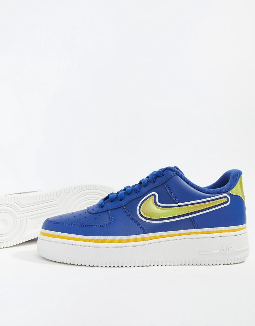 the best attitude 4cef9 e0feb Nike Air Force 1  07 Sport Trainers In Blue Aj7748-400 in Blue for Men -  Lyst