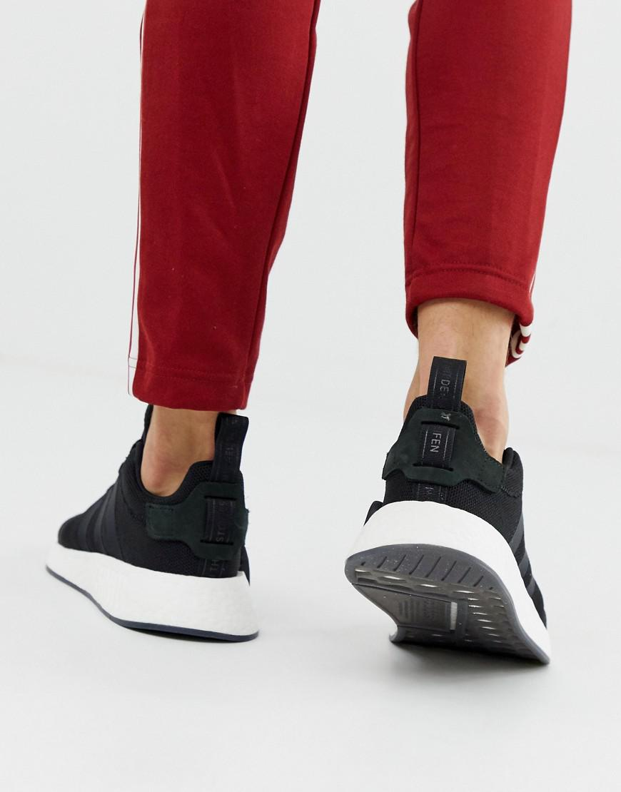 a56503cd2d2ac8 adidas Originals Nmd R2 Boost Trainers In Black Cq2402 in Black for ...