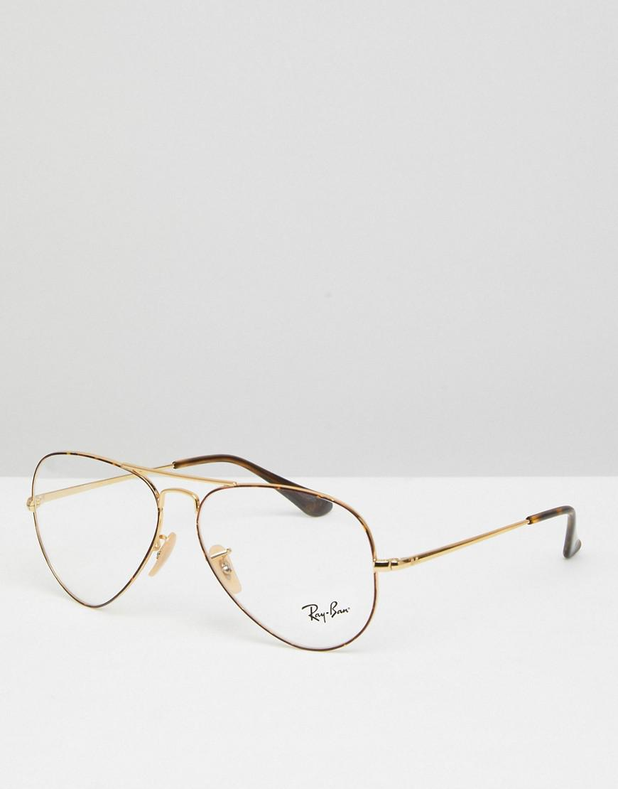 Ray-Ban Aviator Optical Frames With Demo Lenses In Gold 58mm in ...