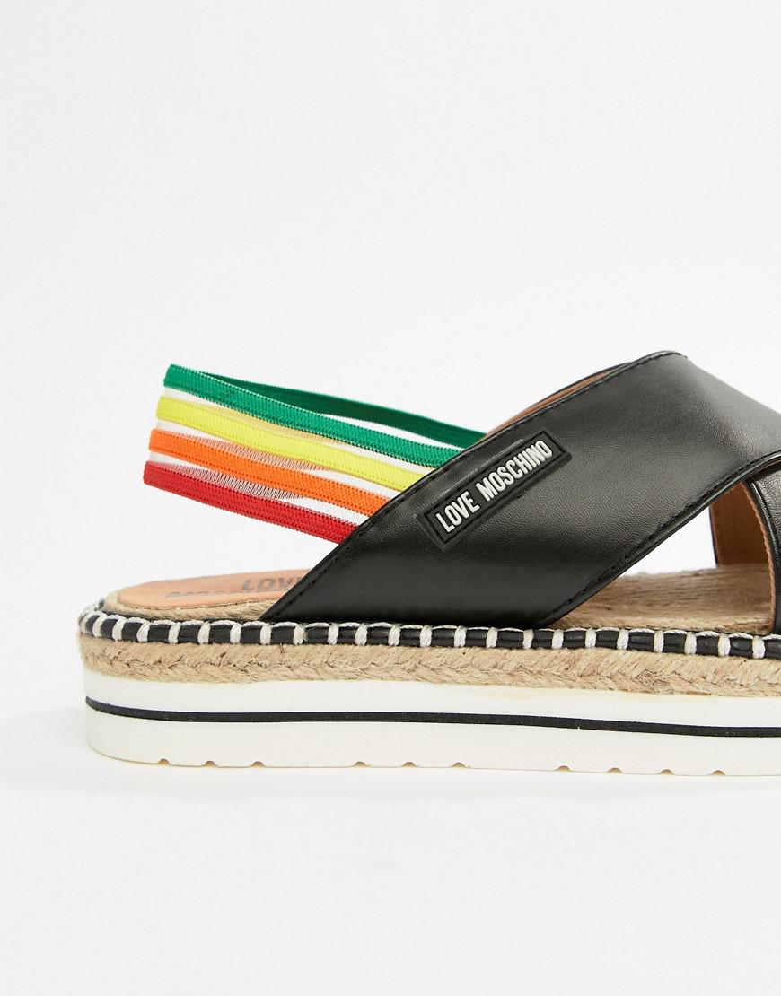 Moschino Rainbow Flat Sandals 6filk9mi