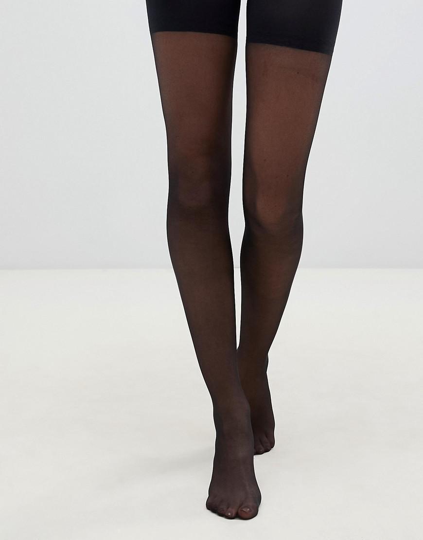 ca9c510a1 Pretty Polly In Shape Sheer Longline Shaper Tights In Black in Black ...