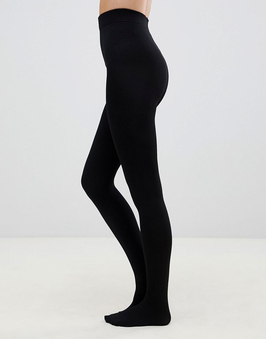 857747ca35e Lyst - Pretty Polly 200 Denier Fleecy Opaque Tights In Black in Black