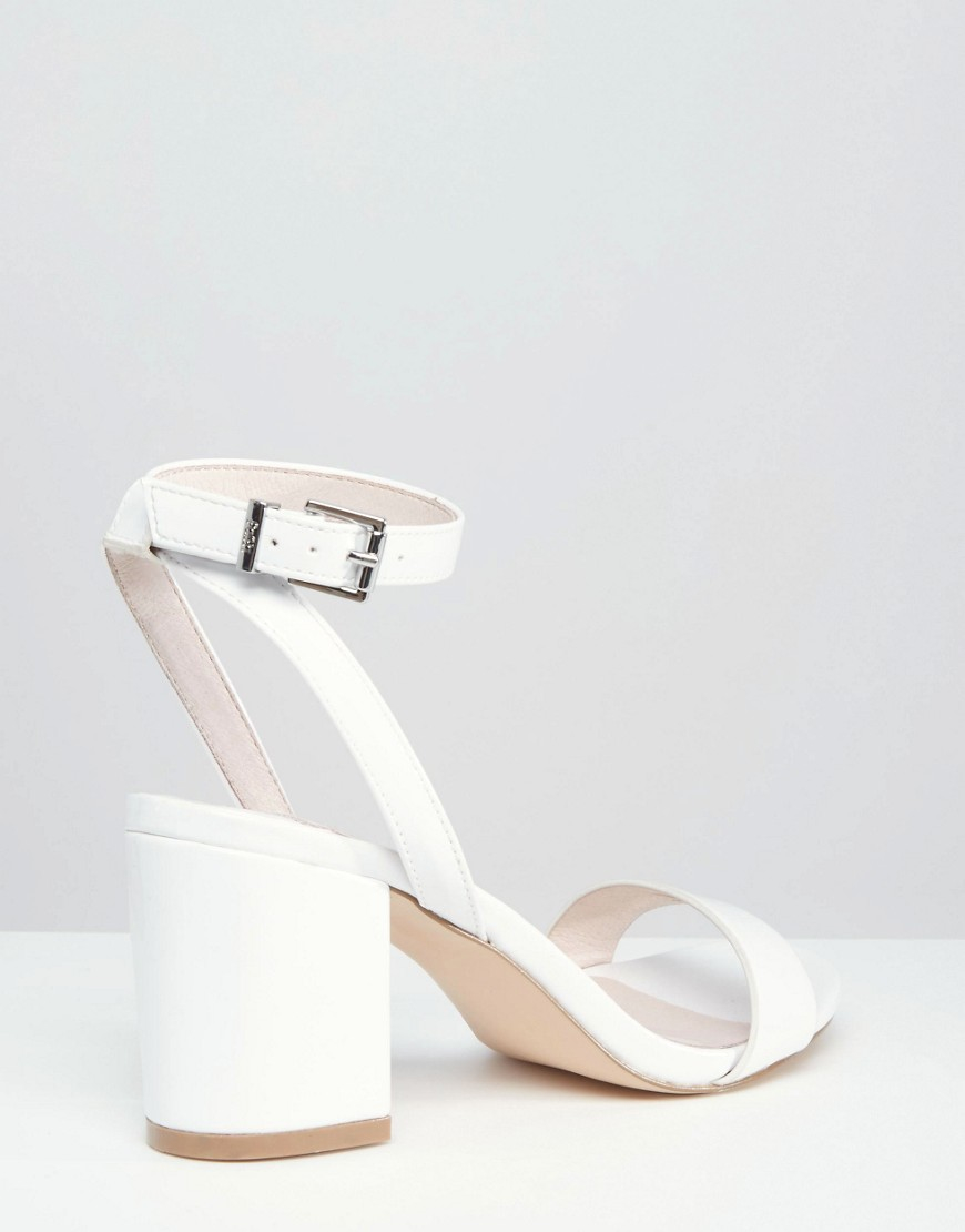 b191070ea643 Lyst - Faith Drake White Barely There Mid Heel Sandals in White