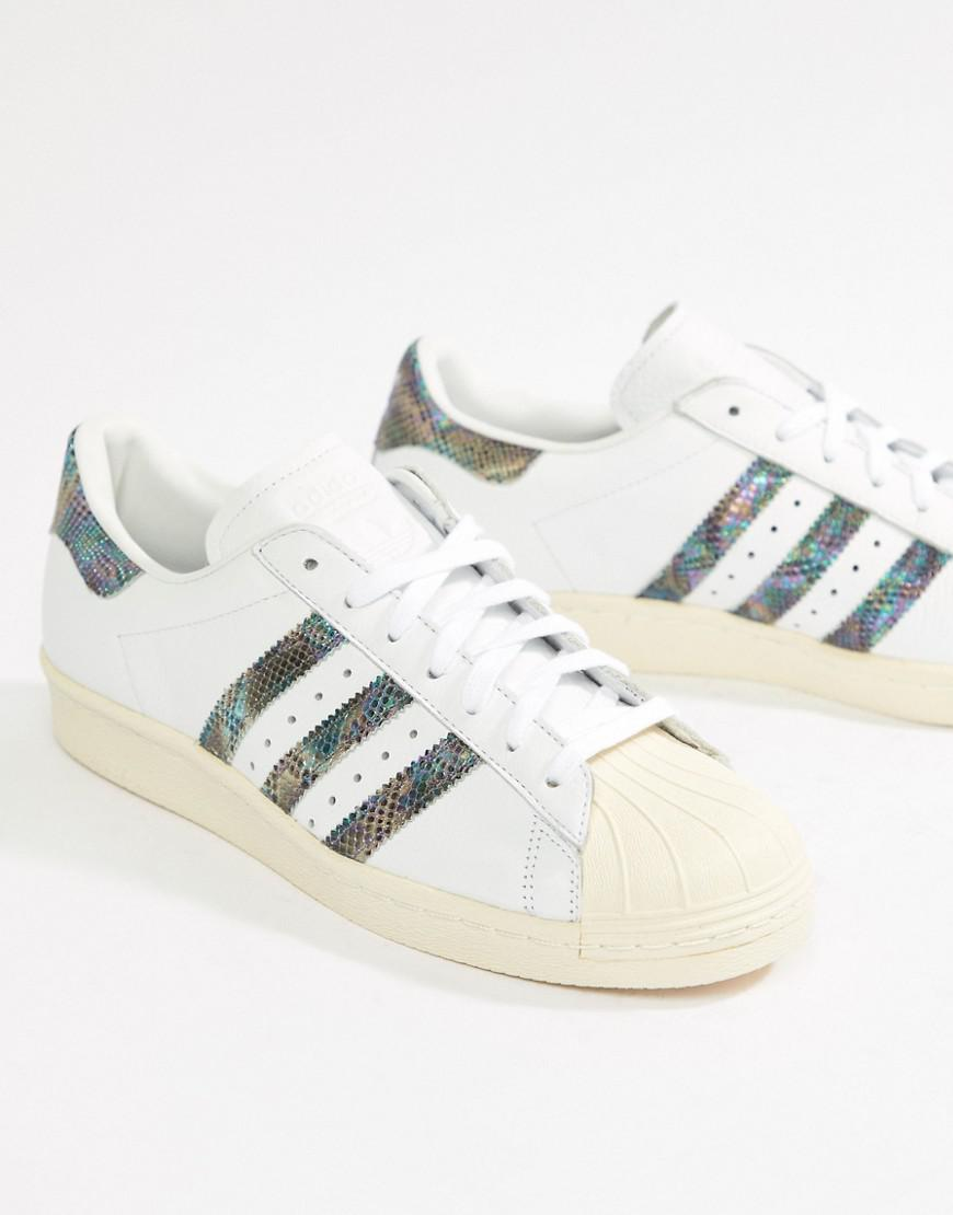 caa04a8d9e8 Lyst - adidas Originals Superstar 80's Trainer in White for Men