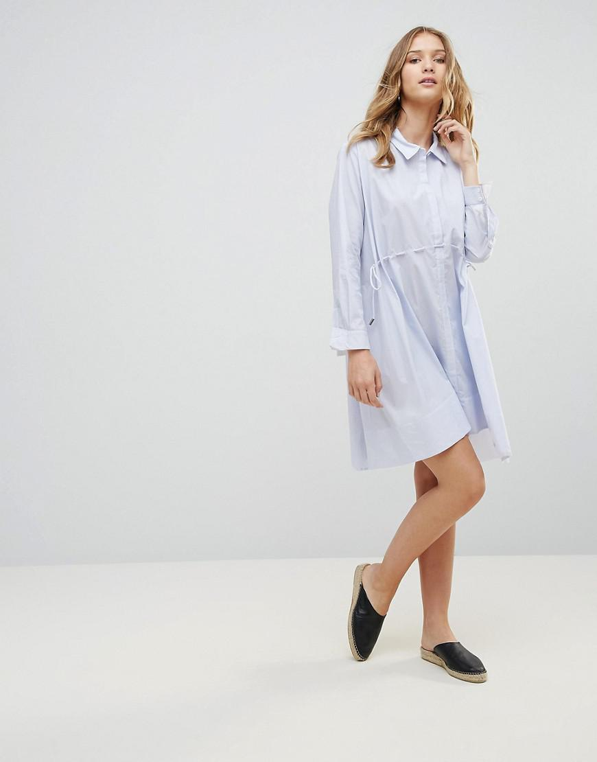 5f848e814f3 Lyst - French Connection Smithson Stripe Shirt Dress in Blue