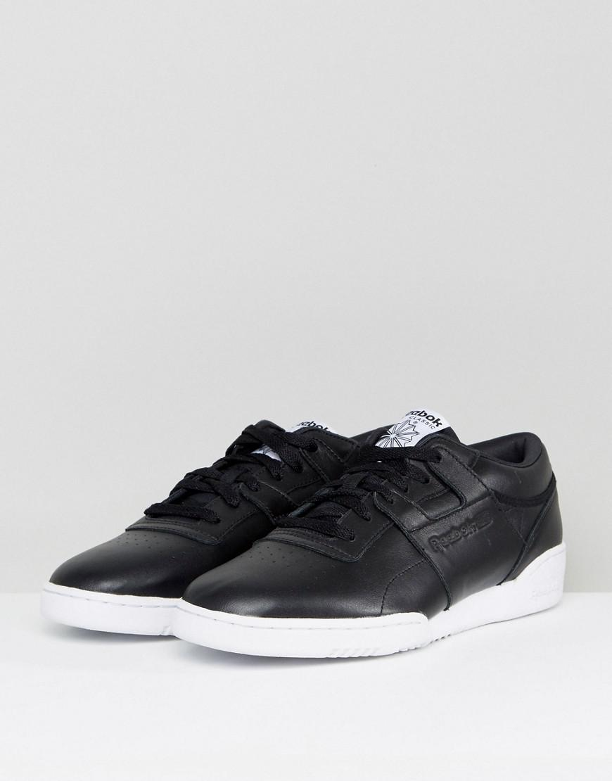Reebok Workout Lo Clean Id Trainers In Black Bs9830 in Black for Men - Lyst 64640b454