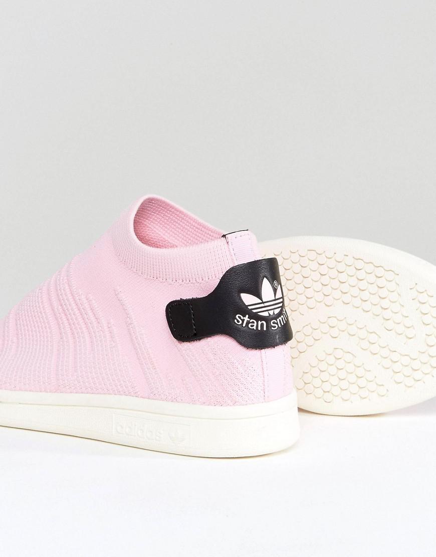 adidas originali originali rosa stan smith primeknit calzino da ginnastica