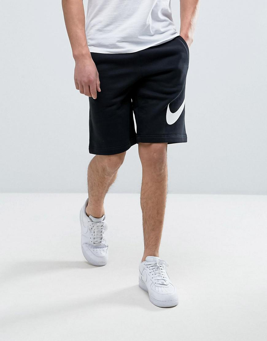 5759cb85439e Nike Jersey Shorts With Large Logo In Black 843520-010 in Black for ...