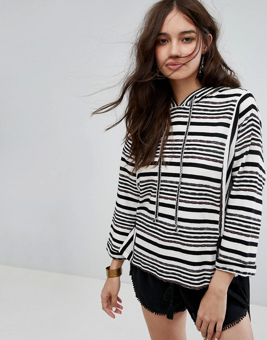 Moon River Stripe Jumper With Tie Details in Black - Lyst 5c7e9eee9