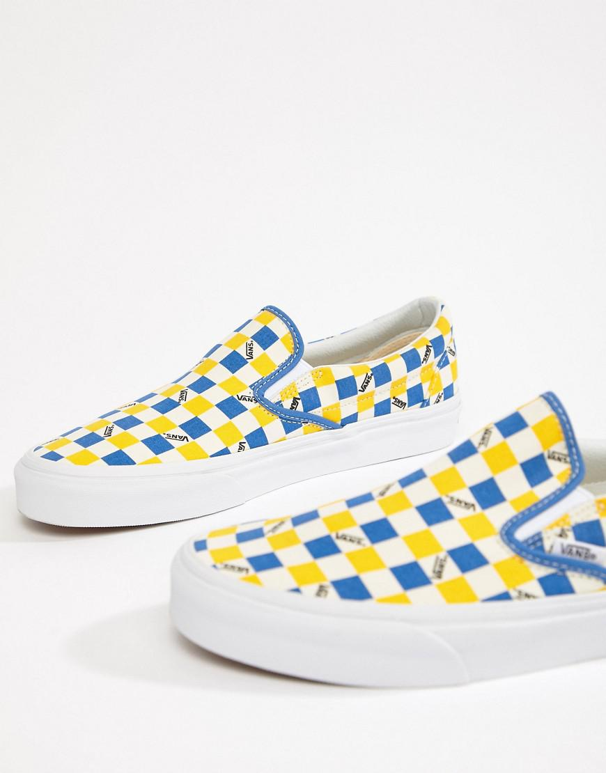 Factory Pack Classic Checkerboard Slip-On Plimsolls In Yellow Exclusive To ASOS - Yellow Vans 2oYKt6l8