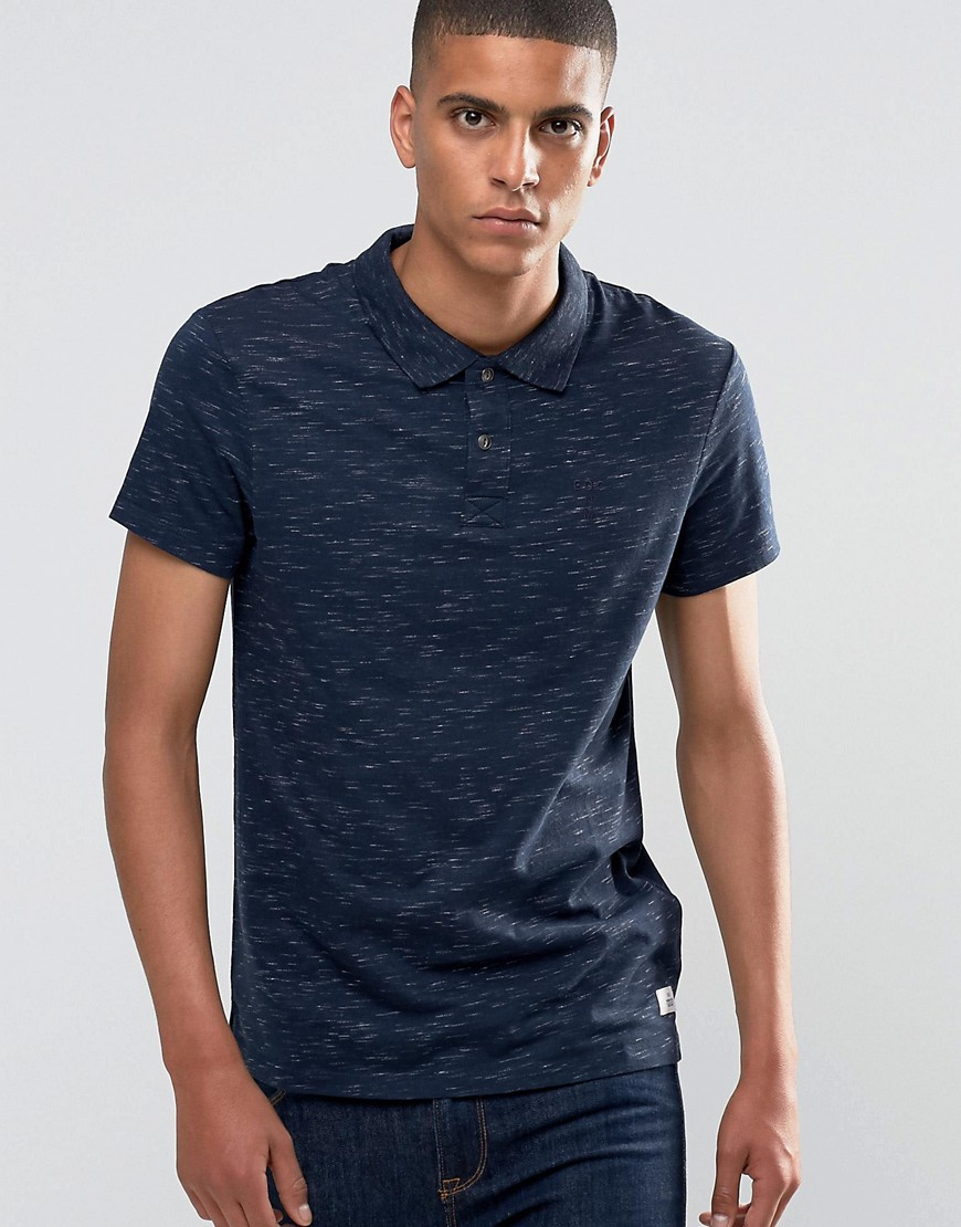 Esprit Slub Polo Shirt In Slim Fit In Blue For Men Lyst
