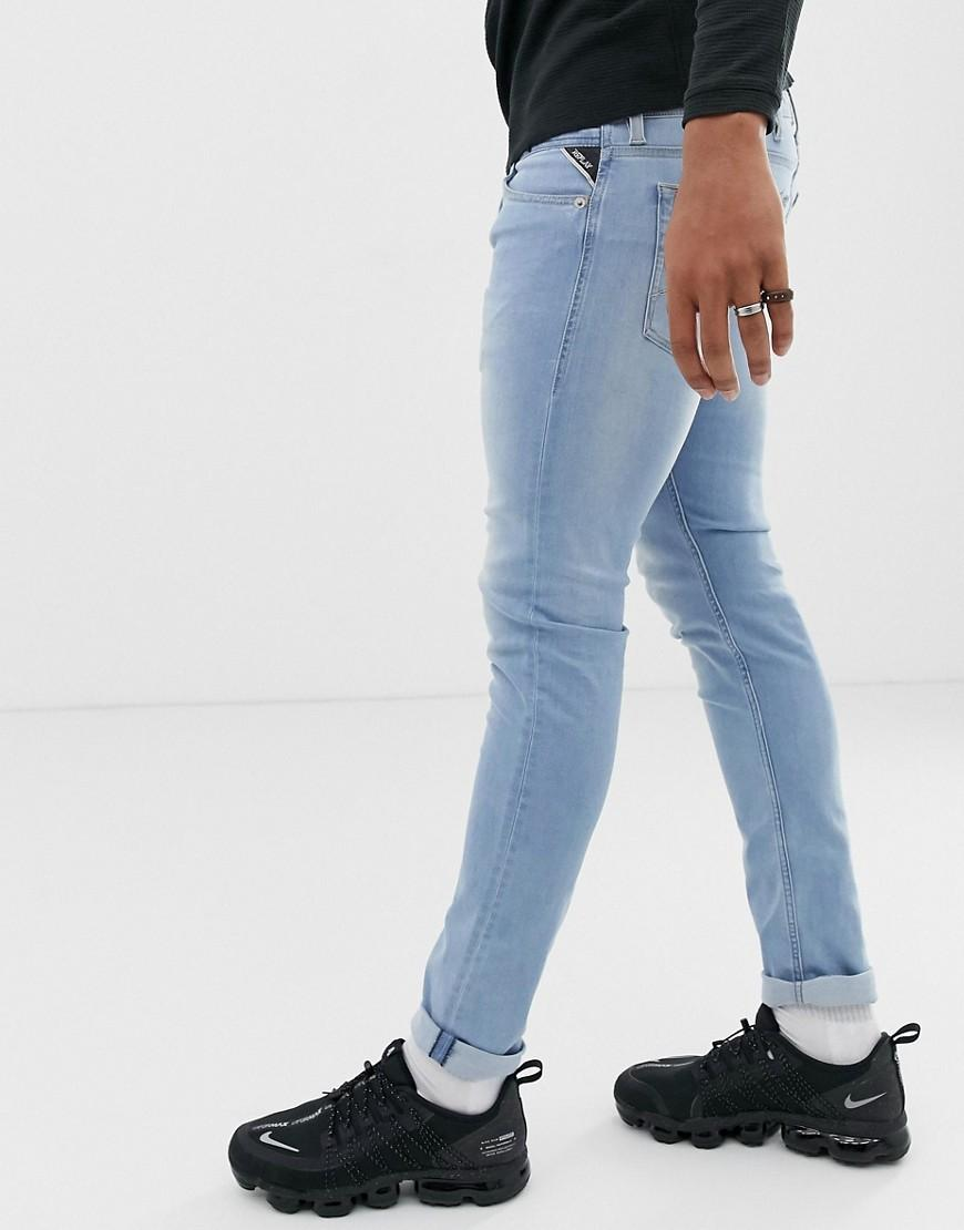 a1b56b5d7f3 Lyst - Replay Jondrill Skinny Power Stretch Jeans In Light Wash in Blue for  Men