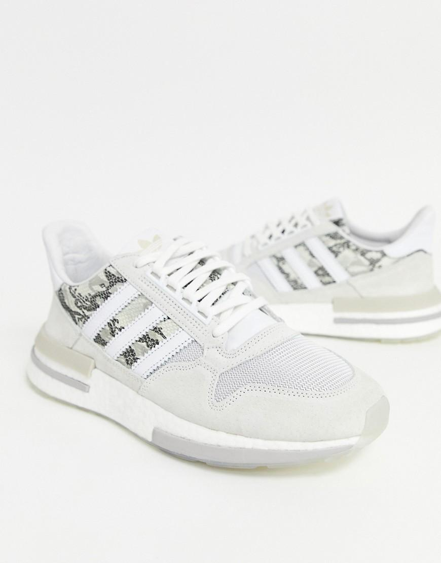 new product 6552c 3d3b0 adidas Originals Zx500 Rm Trainers In White Snake in White for Men - Lyst
