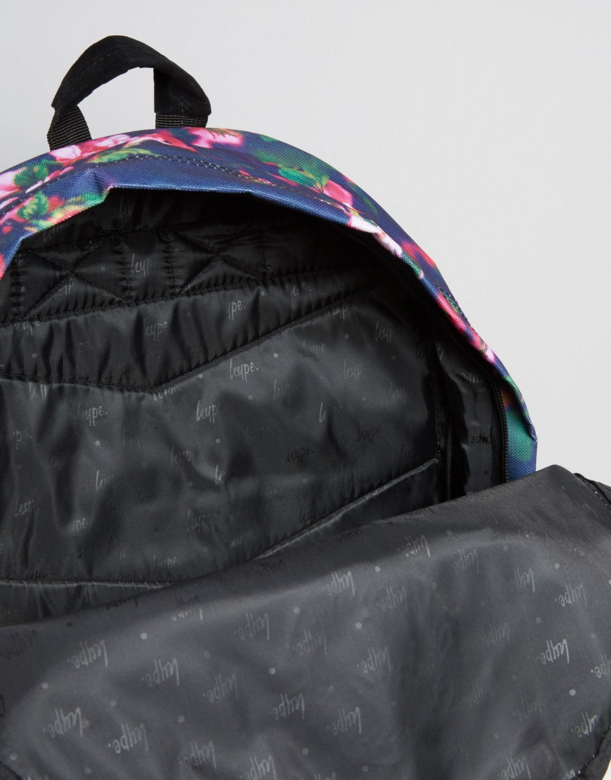 Lyst Hype Exclusive All Over Small Floral Backpack In Blue