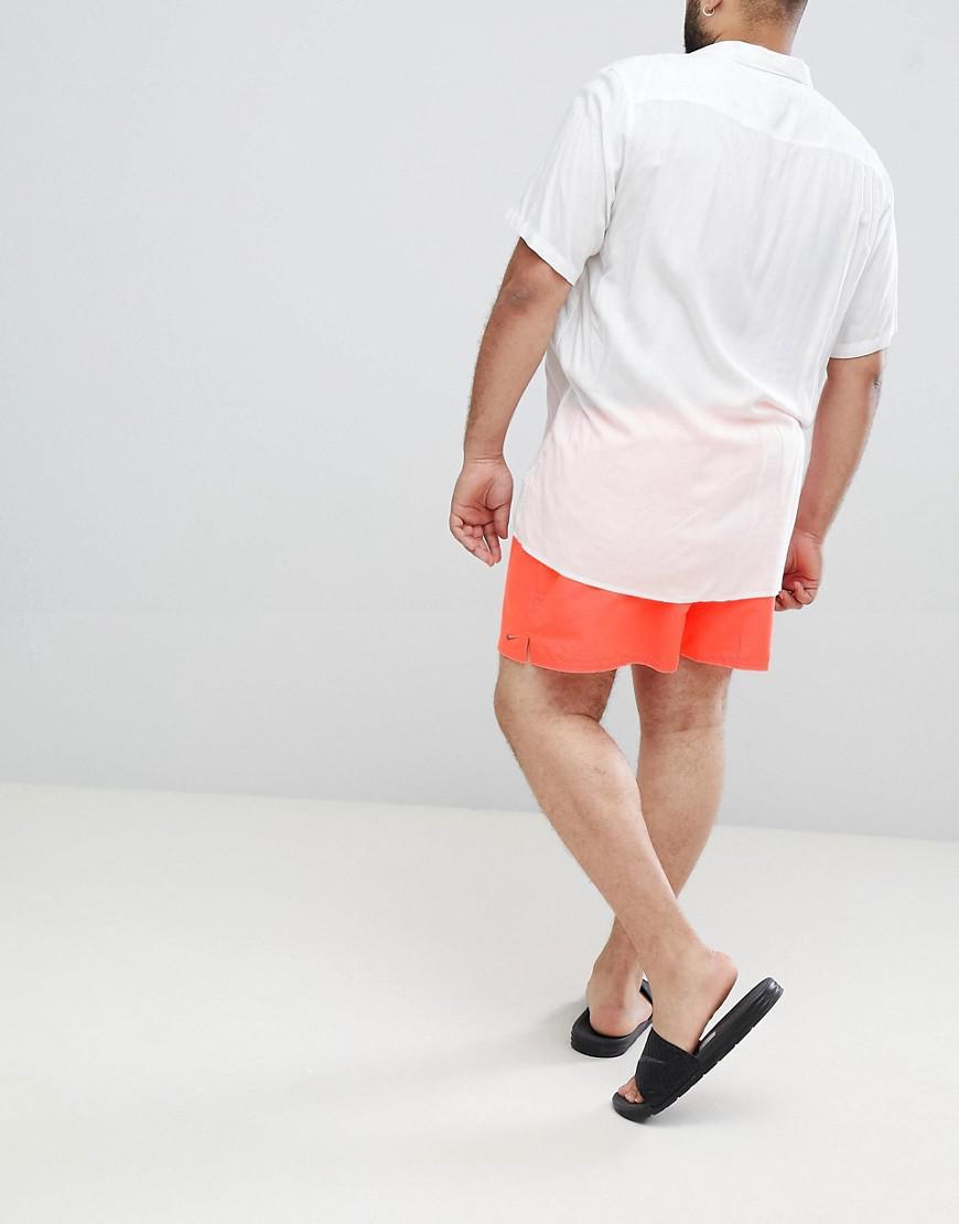 0a7d9059d2b Nike Nike Plus Exclusive Volley Swim Short In Orange Ness8830-618 in Orange  for Men - Lyst