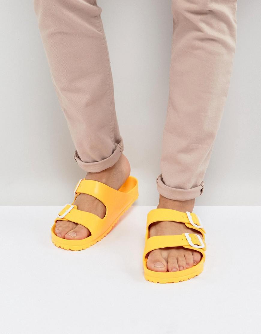 a47619f40158 Lyst - Birkenstock Arizona Eva Sandals in Yellow for Men