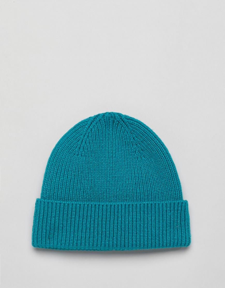 4d7d5aaad86 Lyst - ASOS Fisherman Beanie In Teal in Green for Men