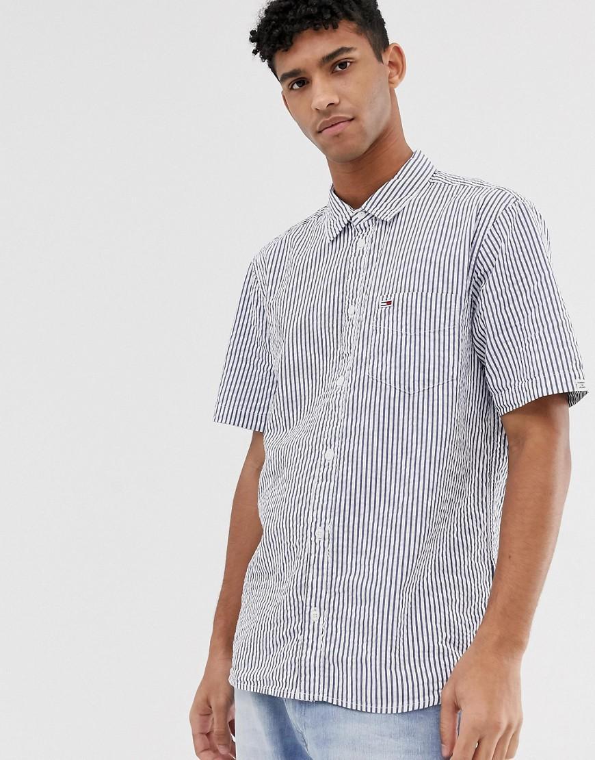 bec2d501 Tommy Hilfiger Short Sleeve Seersucker Shirt With Pocket Pique Flag ...