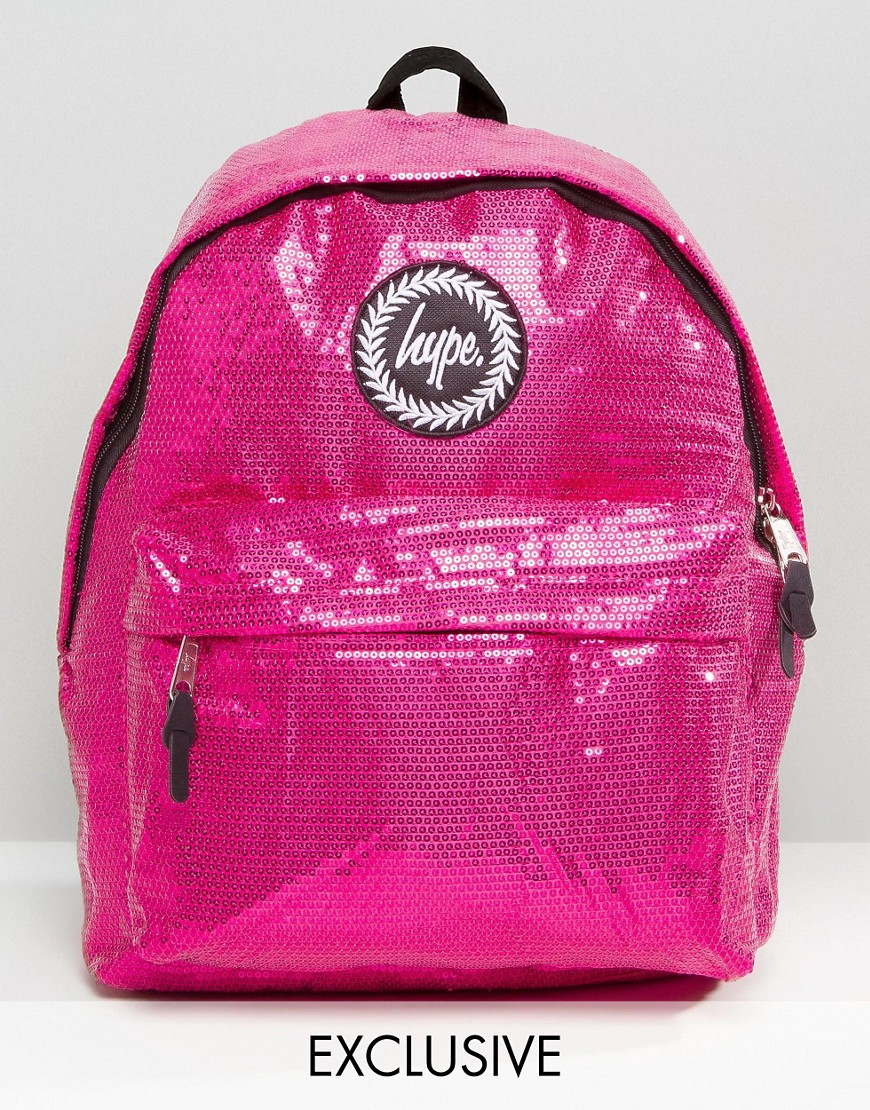 d5113fc6b Hype Exclusive All Over Sequin Backpack in Pink - Lyst