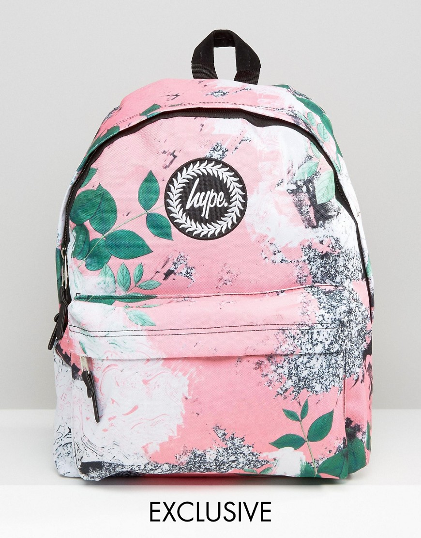 Hype Exclusive Peachy Floral U0026 Leaf Backpack - Multi - Lyst