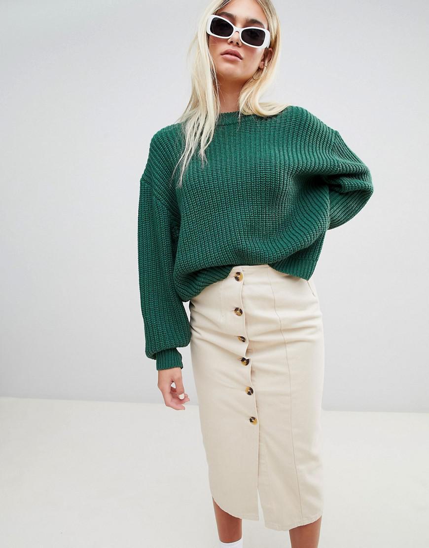 91f659edbc65b6 Weekday Huge Knit Sweater in Green - Lyst