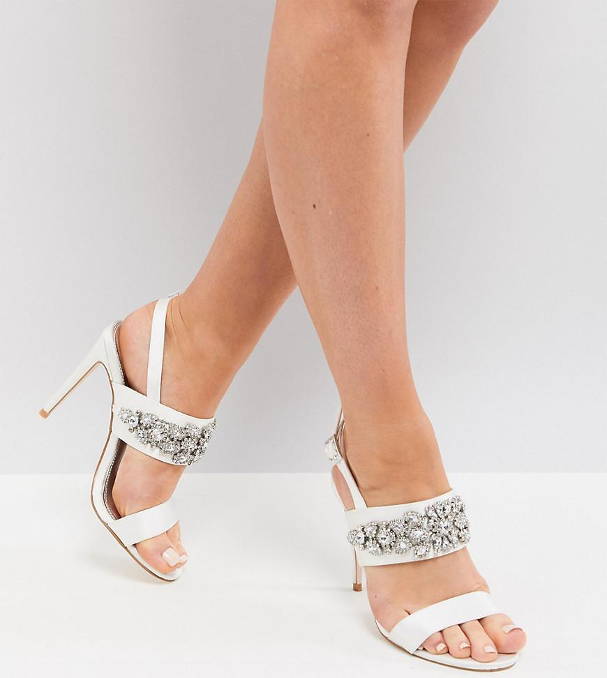 1d6f3ae0d4 ASOS. Women's Willow Wide Fit Bridal Embellished Heeled Sandals