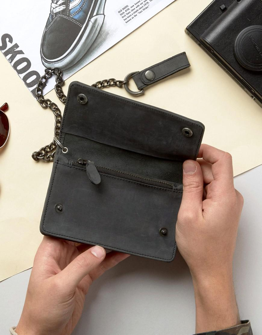 a8131cc90ab Dickies Deedsville Wallet In Leather in Black for Men - Lyst