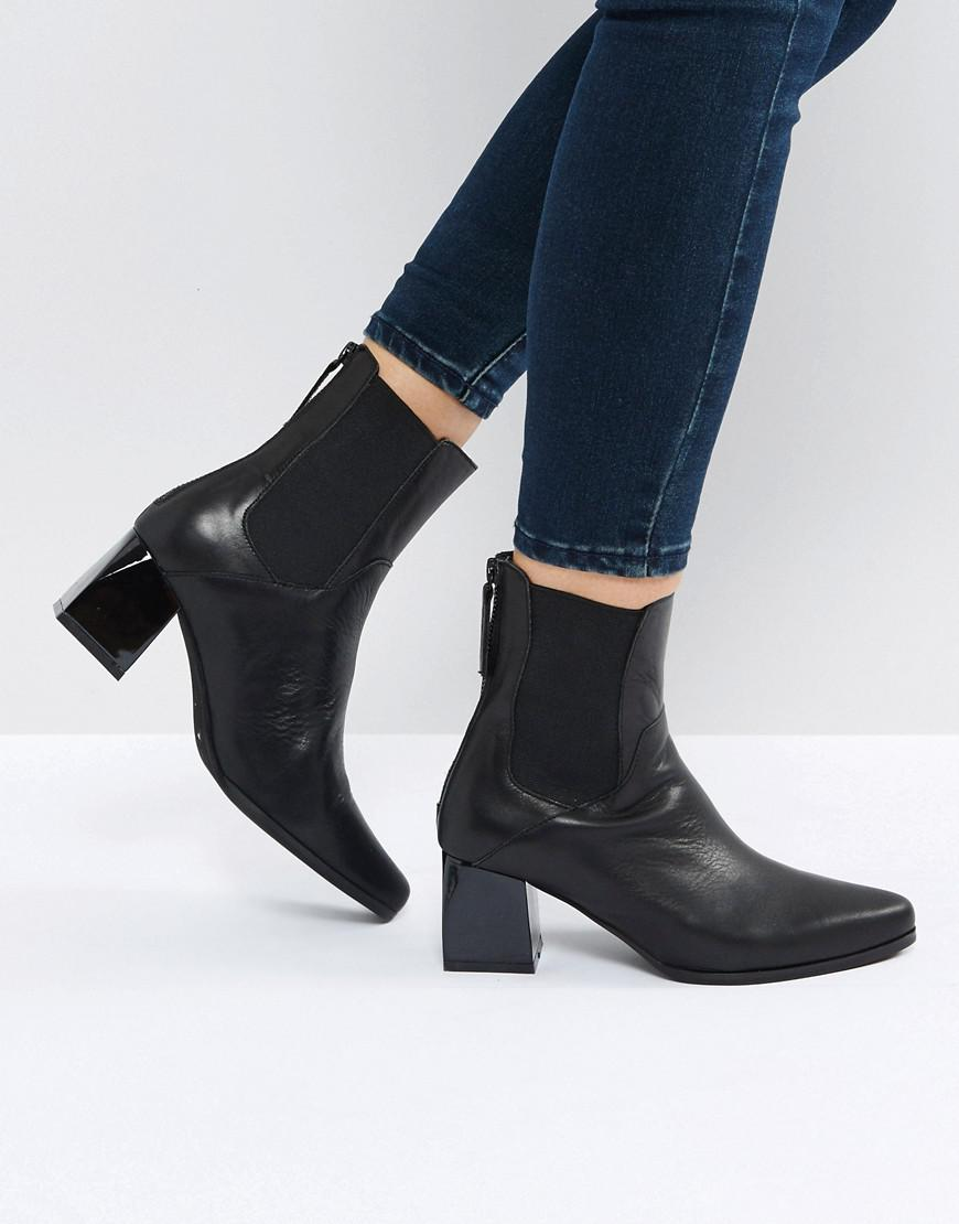 ed0906e5a Lyst - Sol Sana Ronda Black Leather Ankle Boots in Black