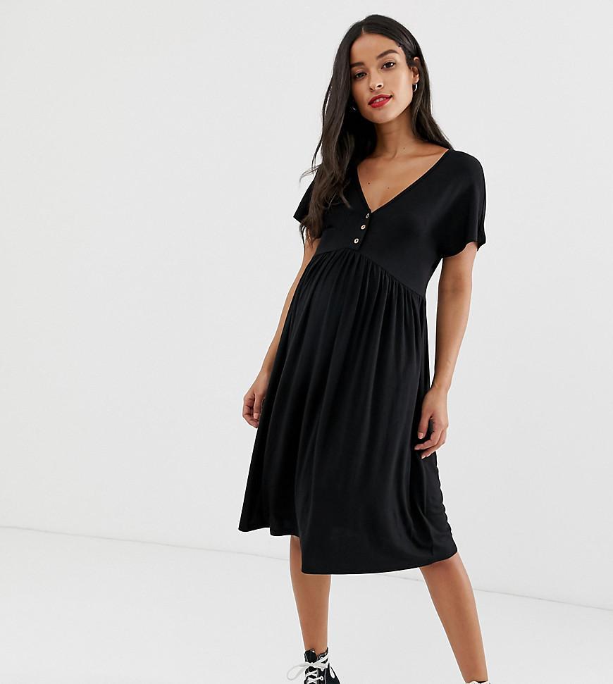 8f506da10cb Lyst - New Look Nursing Smock Dress In Black in Black