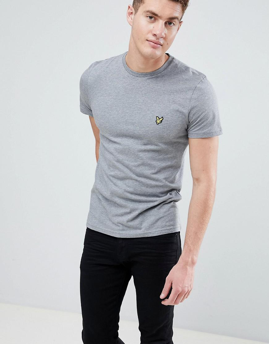 b280b1953f46 Lyle & Scott Logo T-shirt In Grey Marl in Gray for Men - Lyst