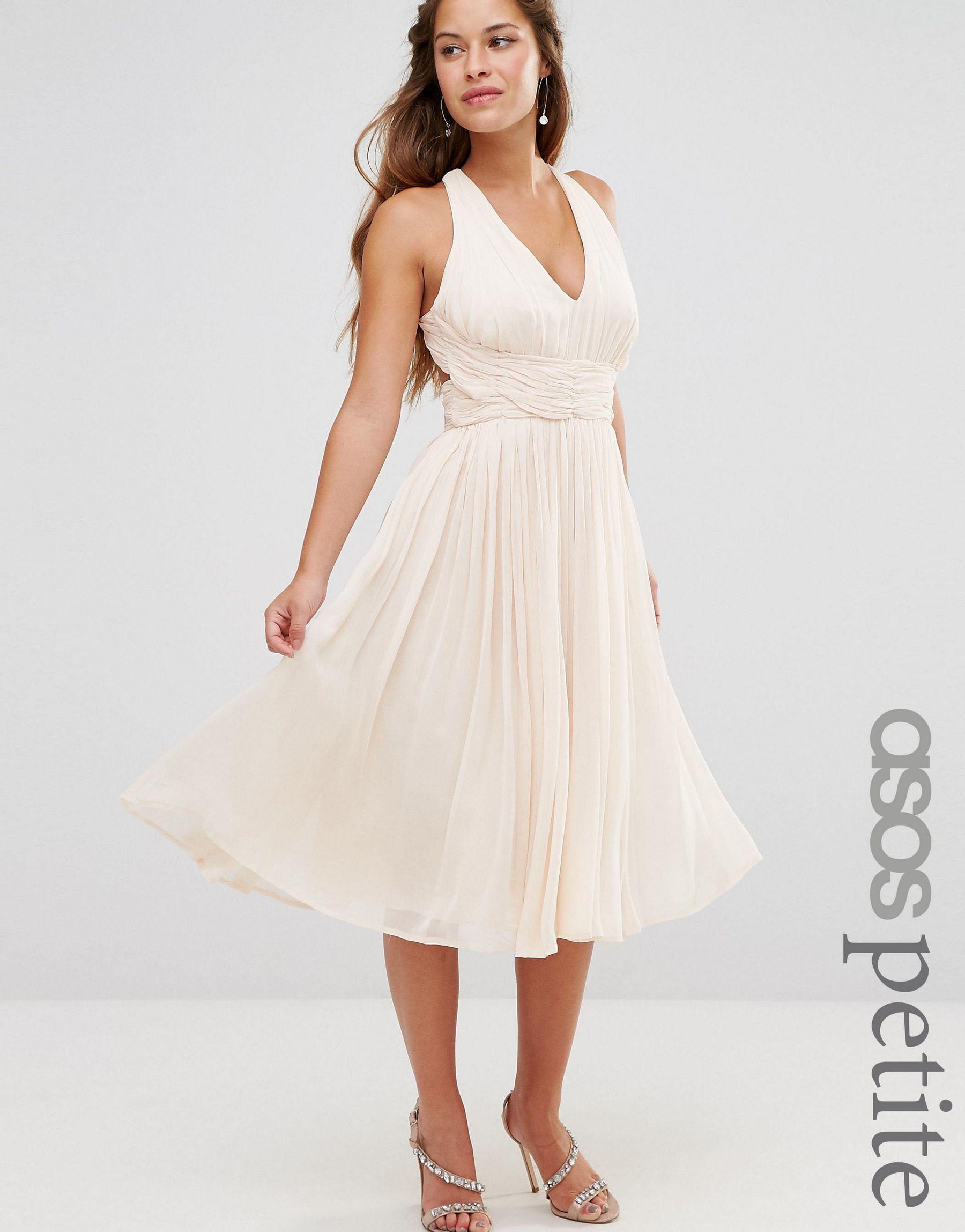 07081a41c9e Lyst - Asos Petite Wedding Hollywood Midi Dress