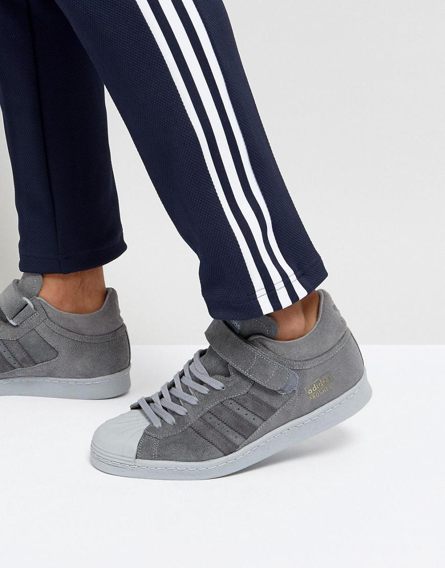 Adidas Originals Superstar Trainers In Grey Bz0210 in Gray for Men ... eb4657535064