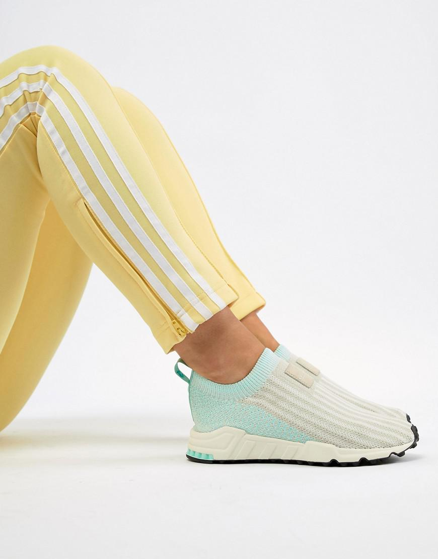 4be1246af2a2 Lyst - adidas Originals Eqt Support Sock 1 3 Sneakers In White And Mint in  White