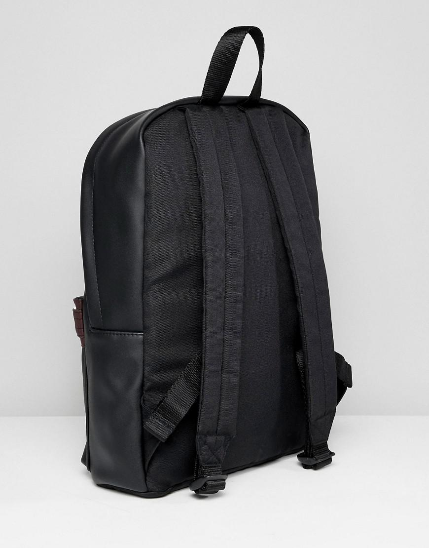Asos Backpack In Black With Loyal Embroidery in Black for Men - Lyst 5b5dd3e335c56