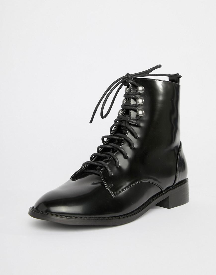 d27cec9247e4 London Rebel Clean Hiker Boots in Black - Lyst