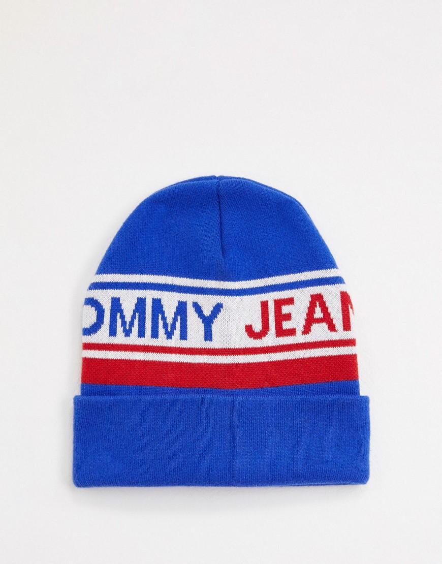 52faf1cc1eb Lyst - Tommy Hilfiger Color Logo Beanie in Blue