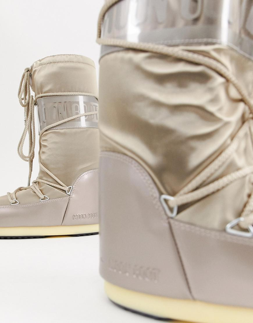 Lyst - Moon Boot Glance Icon Snowboots In Platinum in Metallic 88f1ea615aae0